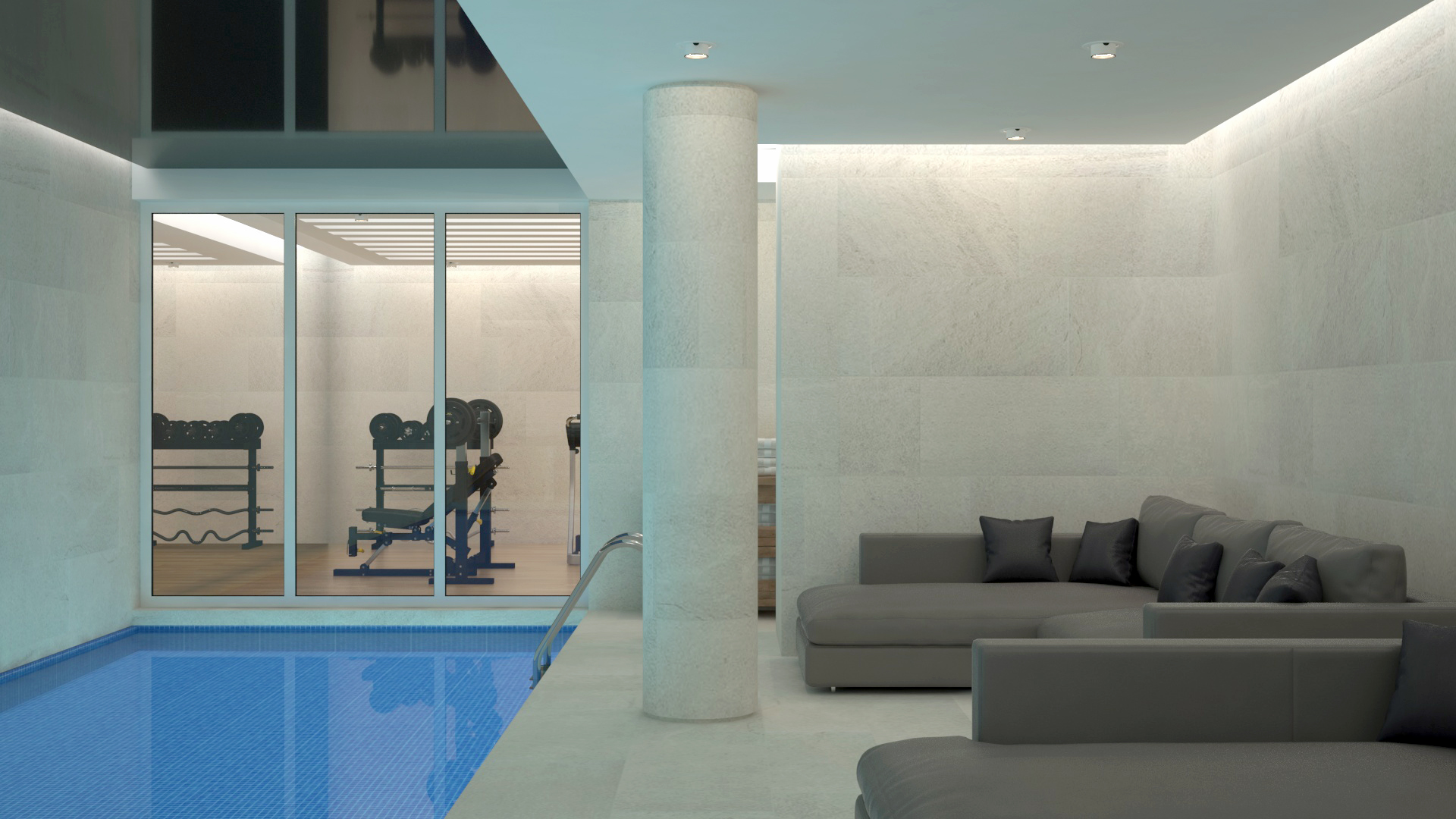 Piscina & Gym Interior